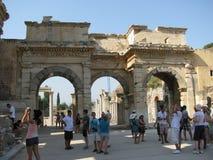 Biblioteca de Celsus en Ephesus imagenes de archivo