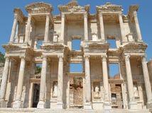 Biblioteca de Celsus, en Ephesus, Asia Menor, Turquía Imagen de archivo libre de regalías