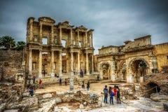 Biblioteca de Celsus, Ephesus Imágenes de archivo libres de regalías