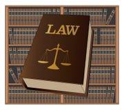 Biblioteca de direito ilustração stock