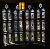 Biblioteca de direito Yale University New Haven Connecticut da janela de vitral imagem de stock royalty free