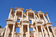 Biblioteca de Efes Celsus Fotos de Stock Royalty Free