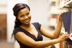 Biblioteca de faculdade africana Fotografia de Stock Royalty Free