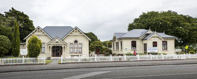Biblioteca de Featherston, Wairarapa, Nueva Zelanda Fotos de archivo