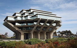 Biblioteca de Geisel en Uc San Diego Imagen de archivo