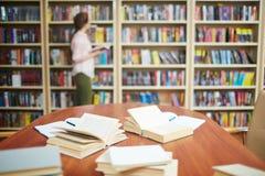 Biblioteca de la High School secundaria fotografía de archivo