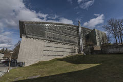 Biblioteca de Liberec en día soleado del invierno Imagenes de archivo