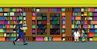 Biblioteca de los estantes libre illustration