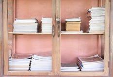 Biblioteca de madeira Fotografia de Stock Royalty Free