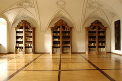 Biblioteca de Mideval Imagenes de archivo