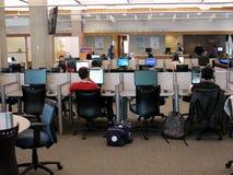 Biblioteca de universidad Fotos de archivo