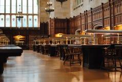 Biblioteca de universidad Foto de archivo