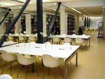 Biblioteca de universidad Imagen de archivo