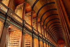 Biblioteca de universidad de la trinidad, Dublín, Irlanda foto de archivo libre de regalías