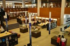 Biblioteca de universidad de Shantou, Guangdong, ¼ Œthe de Chinaï que la mayoría de las bibliotecas de universidad hermosas en As Foto de archivo
