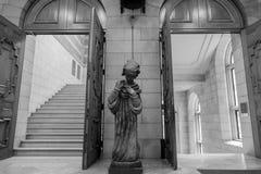 Biblioteca de universidad Lovaina imagen de archivo