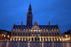 Biblioteca de universidad, Lovaina, Bélgica Imagenes de archivo