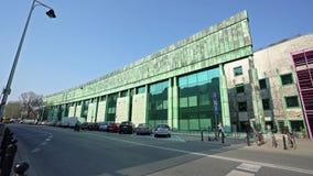 Biblioteca de universidad de Varsovia almacen de video