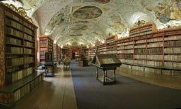 Biblioteca del Barroco de Praga Foto de archivo