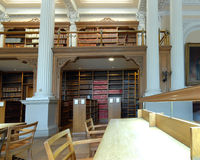 Biblioteca del colegio de abogados Fotos de archivo libres de regalías