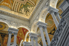 Biblioteca del Congresso, Washington, DC Fotografie Stock Libere da Diritti