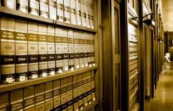 Biblioteca del libro de ley Fotografía de archivo libre de regalías