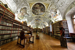 Biblioteca del monasterio de Strahov Imagen de archivo libre de regalías