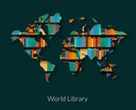 Biblioteca del mondo Fotografie Stock Libere da Diritti