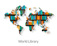 Biblioteca del mondo Fotografie Stock