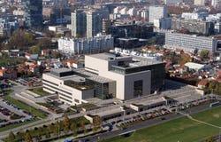 Biblioteca del nacional y de universidad en Zagreb foto de archivo