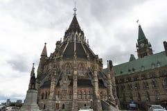 Biblioteca del parlamento, Ottawa, Canadá imagen de archivo