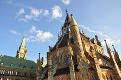 Biblioteca del parlamento y torre de la paz, Ottawa Foto de archivo