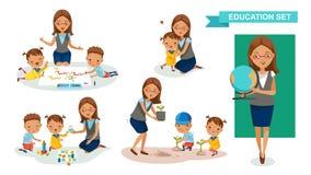 Biblioteca di bambini Immagini Stock Libere da Diritti