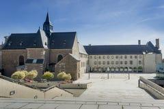 Biblioteca di città, Dinan, Bretagna, Francia Immagini Stock Libere da Diritti