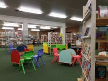 Biblioteca di città nella scuola Immagine Stock