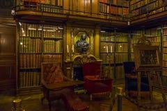 Biblioteca di Conde, castello di Chantilly Fotografie Stock