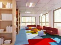 Biblioteca di Empry a scuola moderna Fotografia Stock
