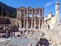 Biblioteca di Ephesus di Celso fotografie stock libere da diritti