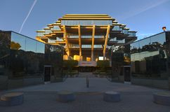 Biblioteca di Geisel alla città universitaria di San Diego UCSD dell'università di California Fotografia Stock Libera da Diritti