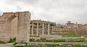 Biblioteca di Hadrians Immagini Stock