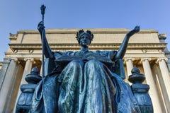 Biblioteca di università di Columbia - New York Fotografia Stock Libera da Diritti