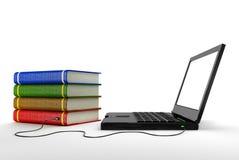 Biblioteca do Internet Imagem de Stock