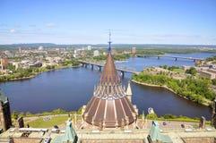 Biblioteca do parlamento em Ottawa Fotos de Stock