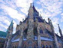 Biblioteca do parlamento em Ottawa Imagens de Stock