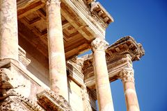 Biblioteca em Ephesus antigo, Turquia Imagens de Stock Royalty Free
