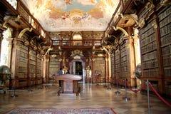 Biblioteca en el monasterio Melk Fotos de archivo libres de regalías