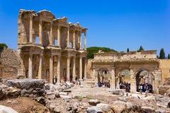 Biblioteca en Ephesus, Turquía de Celsus foto de archivo