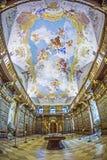 Biblioteca en la abadía de Melk Imagen de archivo libre de regalías