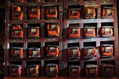 Biblioteca en monasterio budista Fotografía de archivo