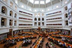 Biblioteca estatal de Victoria, Melbourne foto de archivo